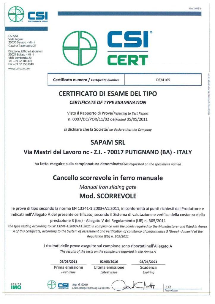 SCANSIONE CERTIFICATI 2016-3